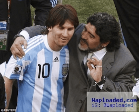 Argentina football legend Maradona pleads with Lionel Messi not to retire from international football